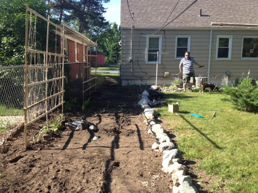 A look at the garden. In a few weeks it will be bustling.